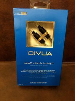 Auvio 6 Ft. Optical Audio Cable Toslink #15-239, New in Box.