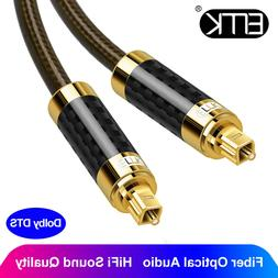 EMK Optical Audio Cable Toslink PS4 Blue-ray Speaker TV Carb