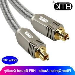 EMK Digital Optical Audio Cable Dolby DTS Optic Fiber Cable
